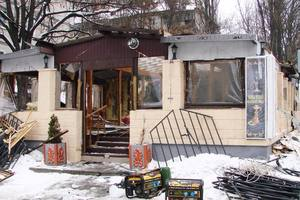 In Kiev demolished a giant IAF restaurant