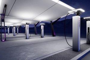 BMW, Daimler, Ford и Volkswagen показали, как будут выглядеть их электрозаправки
