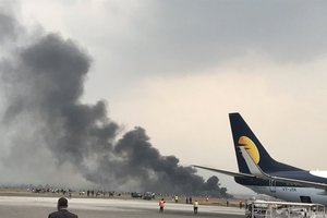 In Nepal passenger plane crashed on the football field