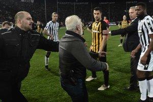 Чемпионат Греции приостановили из-за русского с пистолетом