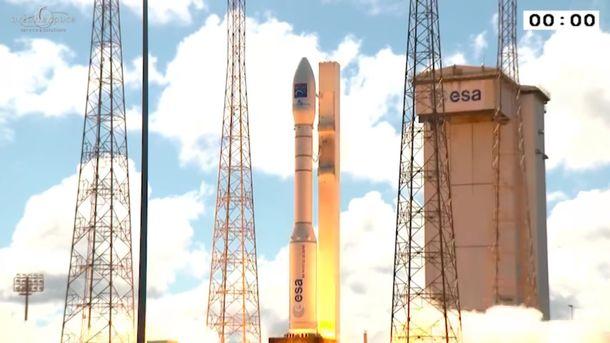 Старт ракеты-носителя с украинскими двигателями. Фото: кадр из видеотрансляции запуска
