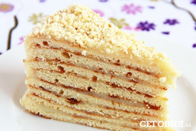 торт низкокалорийный с заварным кремом рецепт