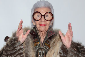 96-year-old fashionista iris Apfel has become a Barbie doll