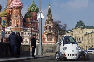 Россия похвасталась трехколесным электромобилем