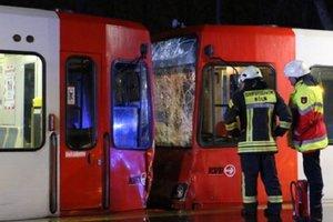 В Германии от столкновения трамваев пострадали 43 человека