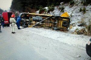 Во Львовской области перевернулся пассажирский автобус