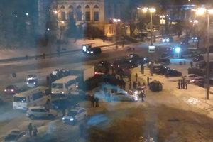 В центре Киева ограничили движение транспорта и стянули полицию