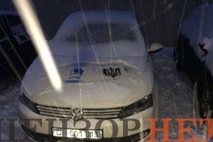 В Киеве автомобили российских дипломатов разрисовали трезубцами (фото)