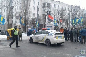 In the center of Kiev pulled 1500 security forces: share photos, videos