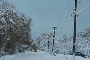 После удара непогоды в Украине остались без света почти 130 населенных пунктов