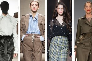Pantsuit, pea and vintage stuff: TOP 10 trends of spring