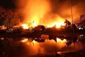 Fire in children's camp