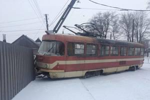 In Zaporozhye the tram derailed