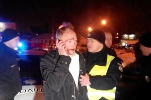 В Харькове пьяный лихач устроил пять ДТП и протаранил машину копов