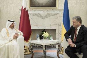Помощь в подготовке к ЧМ по футболу: Порошенко провел переговоры в Катаре