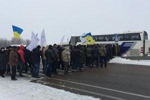 В Ровенской области снова перекрывали трассу Киев - Чоп