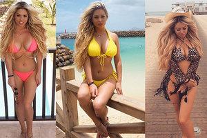 Дочь скандального английского футболиста в Дубае похвасталась коллекцией купальников