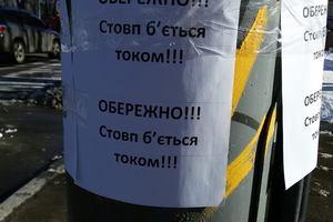 В Киеве столбы бьют током собак и людей