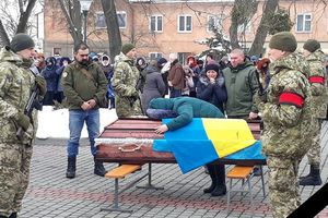 In the Lviv region said goodbye to the dead border guard: the body was met at the knees