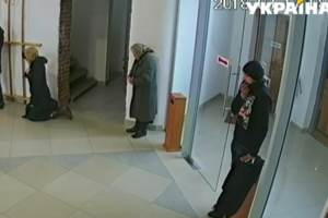 In Lviv, the Church thief half an hour preparing for the theft, but did not notice the cameras