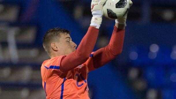 Андрей Лунин вошел втоп-7 самых молодых дебютантов сборной государства Украины