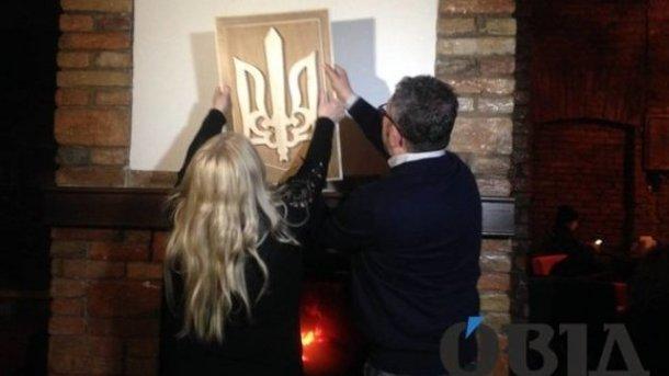 Мать поляка, надругавшегося над гербом вТернополе, исправила его ошибку