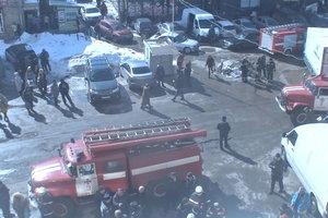 В торговом центре Харькова произошел пожар