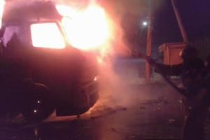 В Фастове загорелся грузовик, водитель получил сильные ожоги