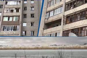 В Казахстане из-за подрыва льда на  реке вылетели стекла в жилых домах