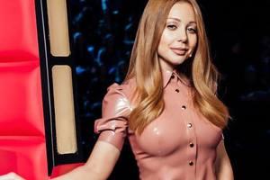 Тина Кароль показала все достоинства своей фигуры в костюме-клеенке
