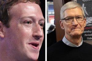 Схватка титанов: Марк Цукерберг отчитал главу Apple за критику Facebook