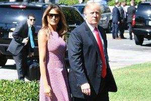 Мелания Трамп в пальто за 2600 долларов появилась на пасхальном приеме в Белом доме