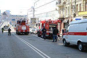 В центре Киева горела крыша жилого дома