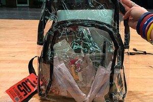Американских школьников обязали носить прозрачные рюкзаки
