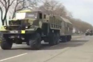 Колонну военной техники заметили в Одессе: видео