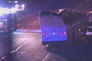 В США автобус со школьниками попал в аварию