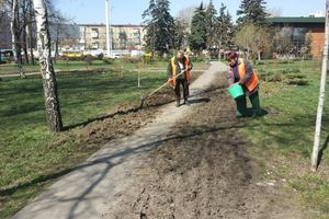 Киев чистят от клещей и песка
