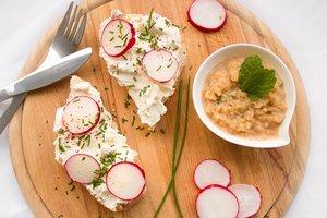 Весенняя закуска из редиса: простой рецепт с творогом и зеленью
