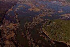 Масштабы подтопления в Харьковской области показали с высоты птичьего полета