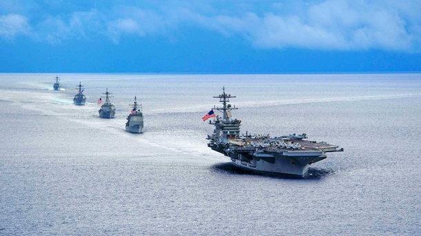 Американcкая авианосная группа. Фото gettyimages