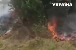 Пожарная опасность: в Карпатах почти дотла выгорела гора