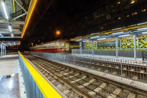 Как выглядит обновленная станция скоростного трамвая в Киеве