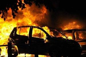 В Харькове ночью сгорела иномарка: эксперты не исключили поджог