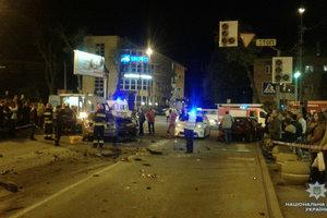 В Виннице произошло тройное ДТП: пострадали пять человек