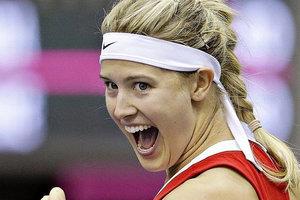 Красотка Эжени Бушар сравняла счет в матче Канада - Украина