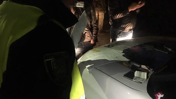Во время задержания. Фото: СБУ Львовской области