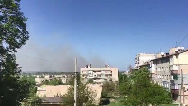 Под Харьковом появился пожар наскладе боеприпасов, слышны взрывы