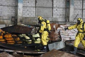 В Запорожье горел склад химикатов: опубликованы фото