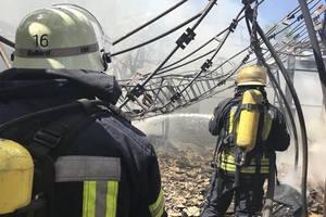 Пожар в Гидропарке: спасатели рассказали подробности
