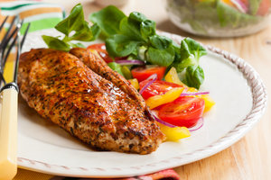 Идея для ужина: куриное филе в медовой глазури